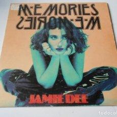 Discos de vinilo: JAMIE DEE, SG, MEMORIES MEMORIES (RADIO MIX) + 1, AÑO 1992. Lote 147626914