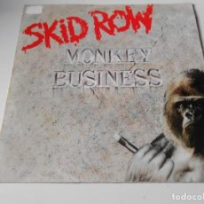 Discos de vinilo: SKID ROW, SG, MONKEY BUSINESS + 1, AÑO 1991 MADE IN GERMANY. Lote 147627674