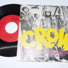 Discos de vinilo: CROW ----SLOW DOWN & COTTAGE CHEESE --- PROMOCION --- AÑO 1970 --- AMARET RECORDS 2564. Lote 147628730