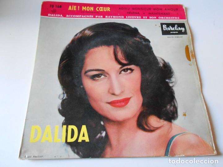 DALIDA, EP, AIE ! MON COEUR + 3, AÑO 19?? MADE IN FRANCE (Música - Discos de Vinilo - EPs - Canción Francesa e Italiana)