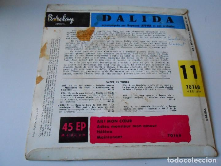 Discos de vinilo: DALIDA, EP, AIE ! MON COEUR + 3, AÑO 19?? MADE IN FRANCE - Foto 2 - 147633158