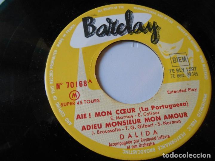 Discos de vinilo: DALIDA, EP, AIE ! MON COEUR + 3, AÑO 19?? MADE IN FRANCE - Foto 4 - 147633158