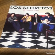 Discos de vinilo: LOS SECRETOS HE PERDIDO EL TIEMPO. VINILO EN LP PROMO CON DOS TEMAS. RARÍSIMO. PEGATINA EN PORTADA. Lote 147638714
