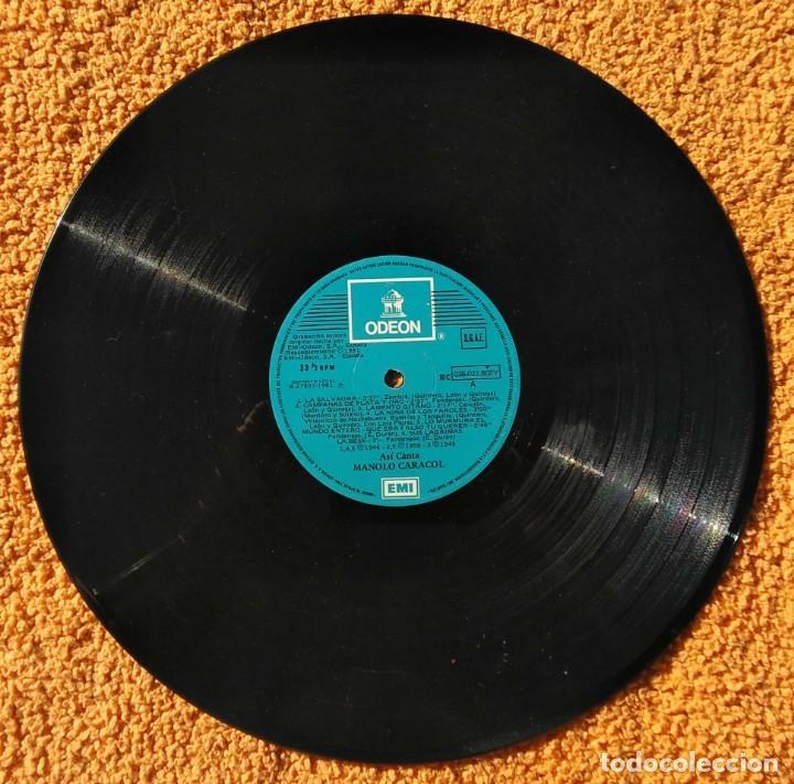 Discos de vinilo: VINILO LP Manolo Caracol - Asi Canta - EMI-Odeon - 1958 MUY RARO - Foto 3 - 147639166