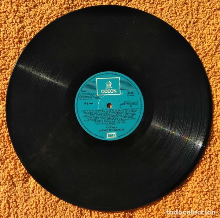 Discos de vinilo: VINILO LP Manolo Caracol - Asi Canta - EMI-Odeon - 1958 MUY RARO - Foto 4 - 147639166
