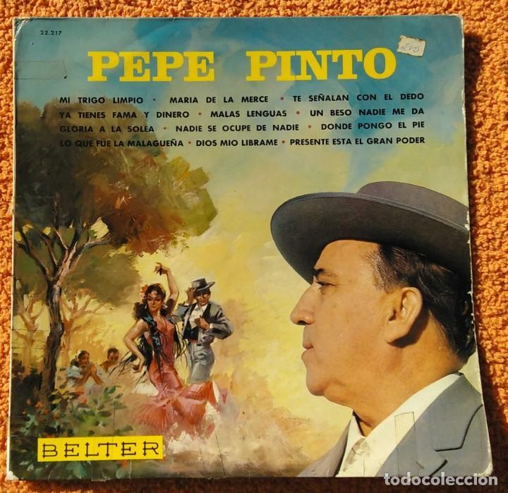 VINILO LP PEPE PINTO, BELTER, MI TRIGO LIMPIO - 1968 MUY RARO (Música - Discos - Singles Vinilo - Flamenco, Canción española y Cuplé)