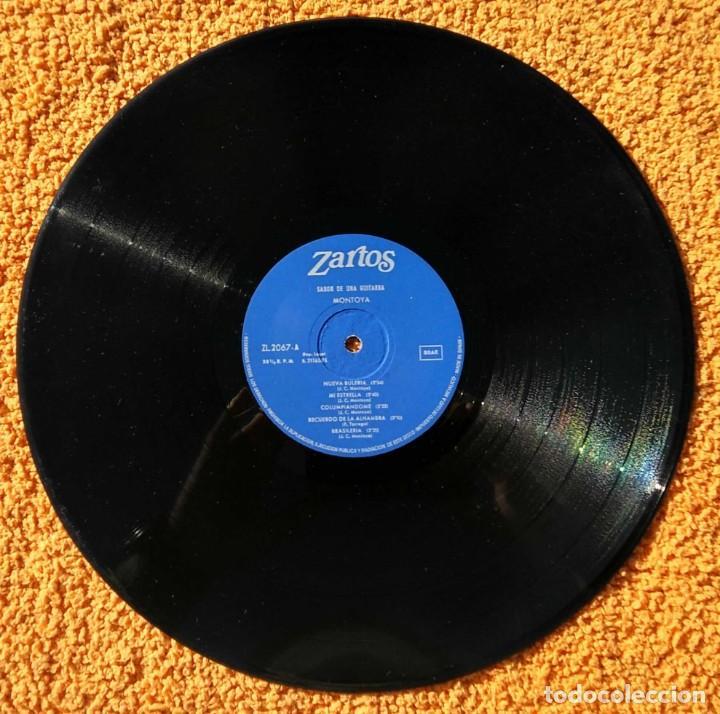 Discos de vinilo: VINILO LP MONTOYA SABOR DE UNA GUITARRA ZARTOS - 1976 MUY RARO - Foto 2 - 147640570