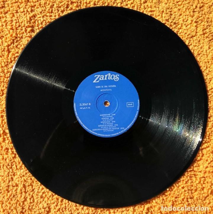 Discos de vinilo: VINILO LP MONTOYA SABOR DE UNA GUITARRA ZARTOS - 1976 MUY RARO - Foto 3 - 147640570