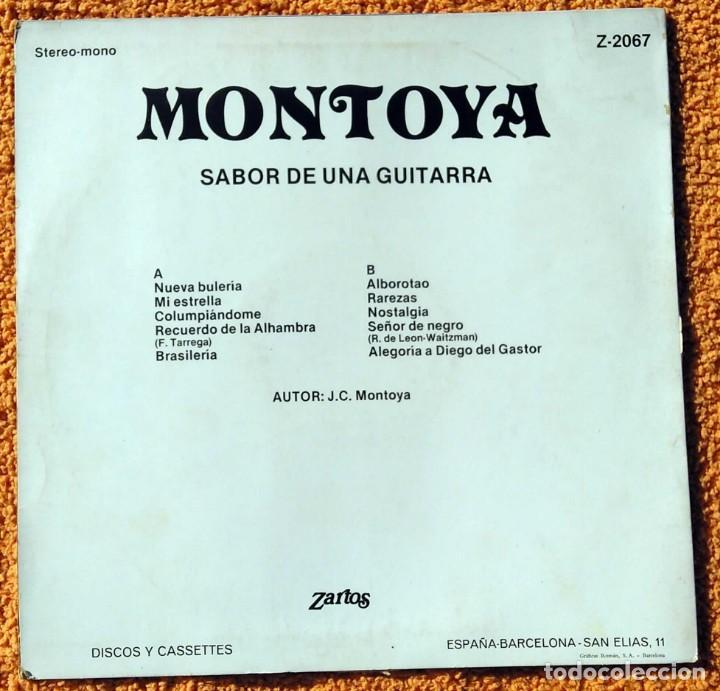 Discos de vinilo: VINILO LP MONTOYA SABOR DE UNA GUITARRA ZARTOS - 1976 MUY RARO - Foto 4 - 147640570