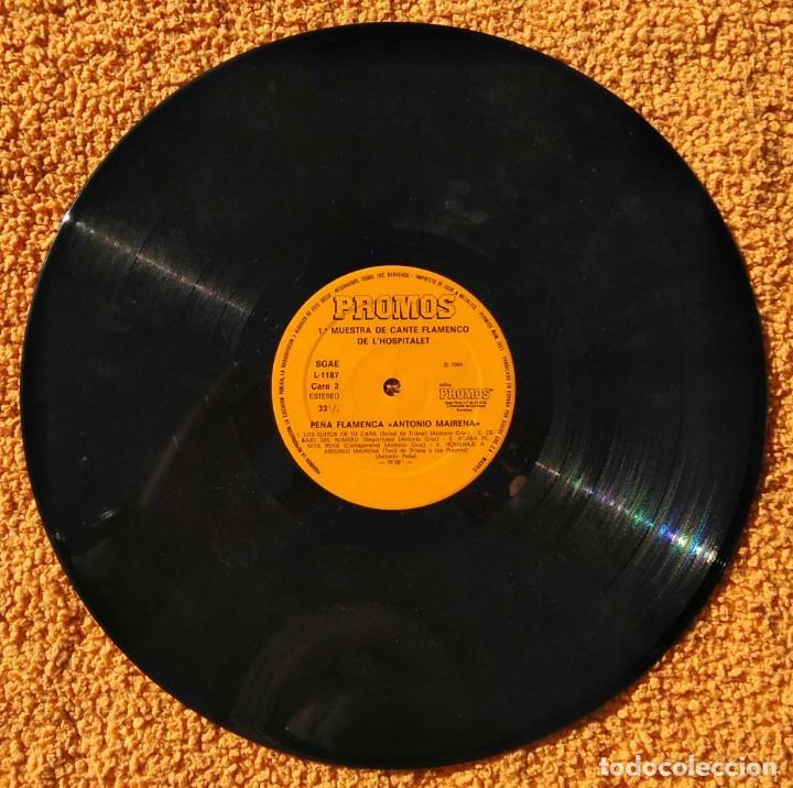 Discos de vinilo: VINILO LP 1ª Muestra De Cante Flamenco de L'Hospitalet De Llobregat - 1984 MUY RARO - Foto 3 - 147641022