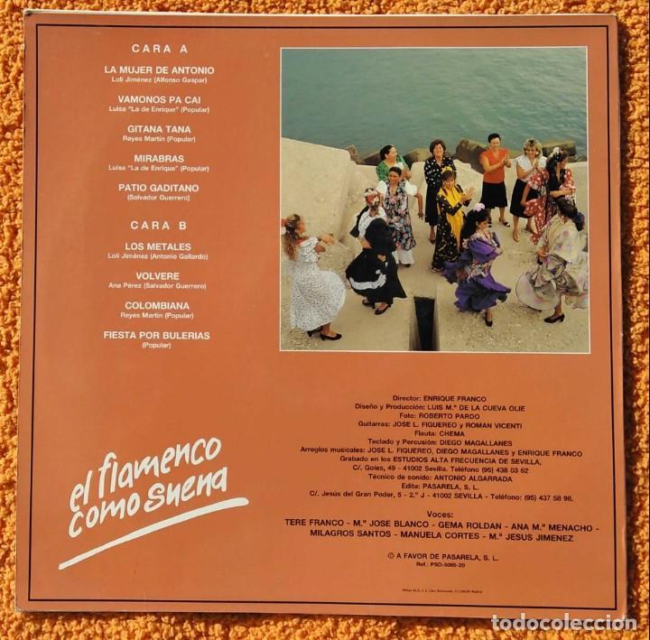 Discos de vinilo: VINILO LP PEÑA FLAMENCA LA PERLA DE CADIZ - VAMONOS PA CAI (SPAIN, PASARELA 1991) MUY RARO - Foto 4 - 147641294
