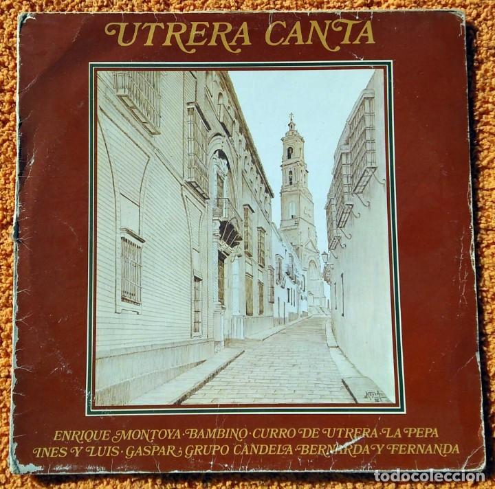 VINILO LP UTRERA CANTA ENRIQUE MONTOYA, BAMBINO 1960) MUY RARO, DIFÍCIL DE ENCONTRAR (Música - Discos - Singles Vinilo - Flamenco, Canción española y Cuplé)