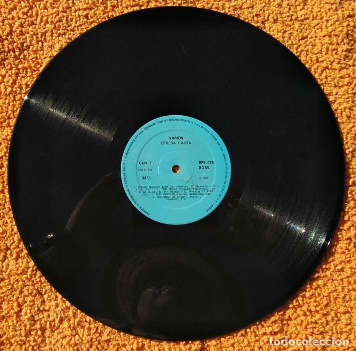 Discos de vinilo: VINILO LP UTRERA CANTA ENRIQUE MONTOYA, BAMBINO 1960) MUY RARO, DIFÍCIL DE ENCONTRAR - Foto 3 - 147642018