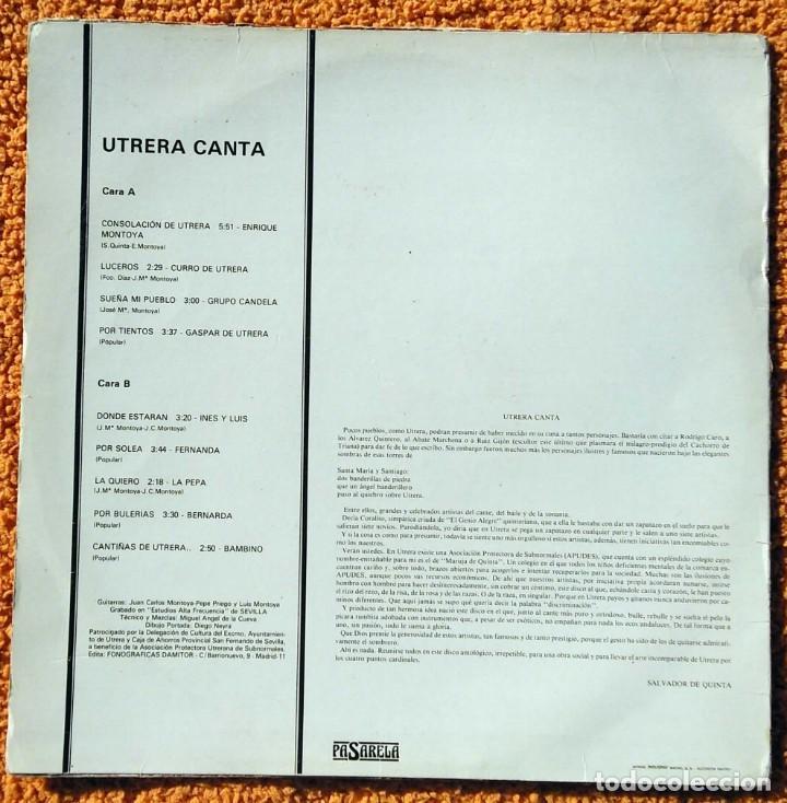 Discos de vinilo: VINILO LP UTRERA CANTA ENRIQUE MONTOYA, BAMBINO 1960) MUY RARO, DIFÍCIL DE ENCONTRAR - Foto 4 - 147642018