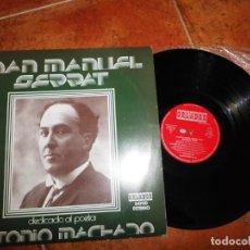 Discos de vinilo: JOAN MANUEL SERRAT DEDICADO AL POETA ANTONIO MACHADO LP VINILO AÑO 1975 12 TEMAS CIRCULO DE LECTORES. Lote 147642026