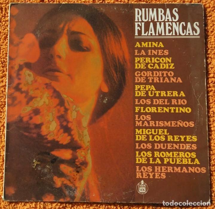 VINILO LP RUMBAS FLAMENCAS(AMINA,LOS DEL RIO Y OTROS) - 1986, MUY RARO, DIFÍCIL DE CONSEGUIR (Música - Discos - Singles Vinilo - Flamenco, Canción española y Cuplé)