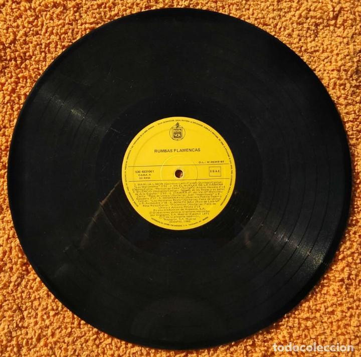 Discos de vinilo: VINILO LP rumbas flamencas(amina,los del rio y otros) - 1986, MUY RARO, DIFÍCIL DE CONSEGUIR - Foto 2 - 147642946