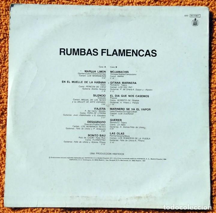 Discos de vinilo: VINILO LP rumbas flamencas(amina,los del rio y otros) - 1986, MUY RARO, DIFÍCIL DE CONSEGUIR - Foto 4 - 147642946