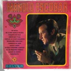 Discos de vinilo: MANOLO ESCOBAR LP MANOLO ESCOBAR AÑO 1968 – MI NOVIA. Lote 147645678