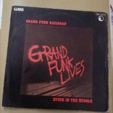 Discos de vinilo: GRAND FUNK RAILROAD. STUCK IN THE MIDDLE. Lote 147649740