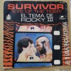 Discos de vinilo: SURVIVOR. EYE OF THE TIGER. TEMA DE ROCKY III. Lote 147650802
