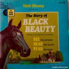 Discos de vinilo: THE STORY OF BLACK BEAUTY. WALT DISNEY. EDITADO POR DISNEYLAND INGLATERRA. EP + LIBRETO. Lote 147669170