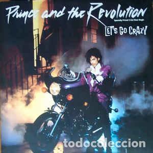 PRINCE AND THE REVOLUTION - LET'S GO CRAZY (WARNER, 92 02460 12'', MAXI, IMPORT CANADA, 1984) ++++ (Música - Discos de Vinilo - Maxi Singles - Pop - Rock - New Wave Extranjero de los 80)