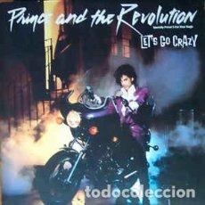 Discos de vinilo: PRINCE AND THE REVOLUTION - LET'S GO CRAZY (WARNER, 92 02460 12'', MAXI, IMPORT CANADA, 1984) ++++. Lote 147672390