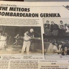 Discos de vinilo: THE METEORS ARTÍCULO DEL SUPLEMENTO DEVÓRAME AÑO 1986. Lote 147677034