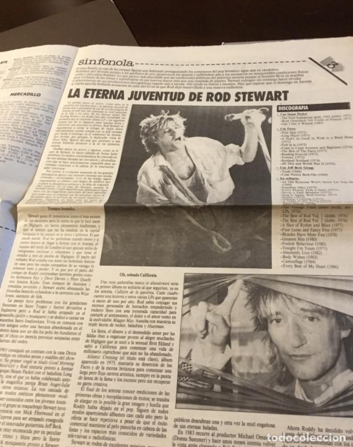 ROD STEWART ARTÍCULO DEL SUPLEMENTO DE ÓRAME 1985 (Música - Discos de Vinilo - Maxi Singles - Pop - Rock - New Wave Extranjero de los 80)