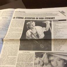 Discos de vinilo: ROD STEWART ARTÍCULO DEL SUPLEMENTO DE ÓRAME 1985. Lote 147678050