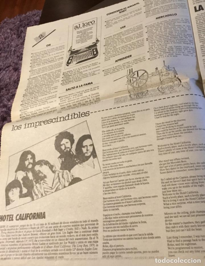 Discos de vinilo: Rod stewart artículo Del suplemento de órame 1985 - Foto 2 - 147678050