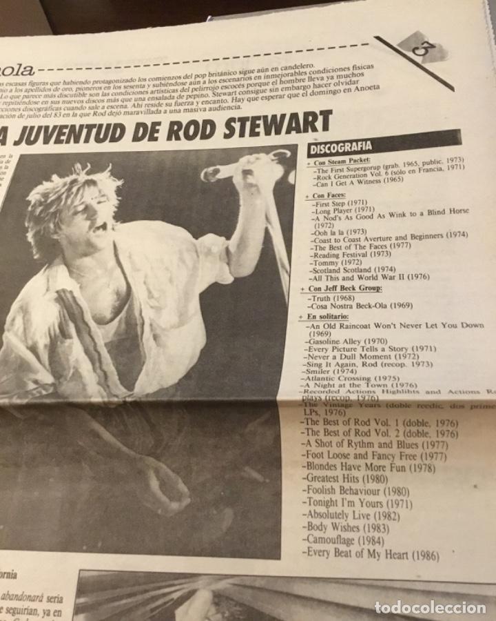 Discos de vinilo: Rod stewart artículo Del suplemento de órame 1985 - Foto 3 - 147678050