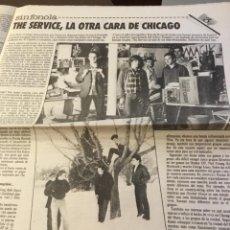 Discos de vinilo: THE SERVICE ARTÍCULO DEL SUPLEMENTO DEVÓRAME 1986 CEESEPE. Lote 147678954