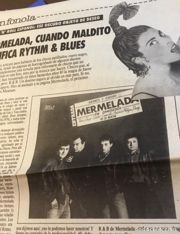 MERMELADA ARTÍCULO DEL SUPLEMENTO DEVÓRAME 1986 (Música - Discos de Vinilo - Maxi Singles - Pop - Rock - New Wave Extranjero de los 80)