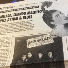 Discos de vinilo: MERMELADA ARTÍCULO DEL SUPLEMENTO DEVÓRAME 1986. Lote 147680074