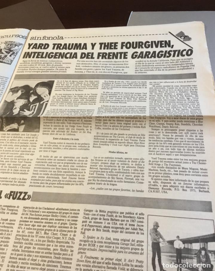 YARD TRAUMA THE FOURGIVEN ARTÍCULO DEL SUPLEMENTO DEVÓRAME (Música - Discos de Vinilo - Maxi Singles - Pop - Rock - New Wave Extranjero de los 80)