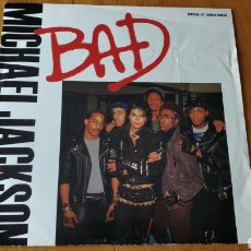 Discos de vinilo: MICHAEL JACKSON PORTUGAL MAXI SINGLE BAD. Lote 147684230