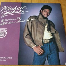 Discos de vinilo: MICHAEL JACKSON MAXI SINGLE WANNA BE STARTIN SOMETHIN. Lote 147684332