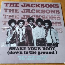 Discos de vinilo: MICHAEL JACKSON THE JACKSONS MAXI SINGLE SHAKE YOUR BODY. Lote 147684744