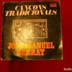 Discos de vinilo: JOAN MANEL SERRAT -- EL BALL DE LA CIVADA / CANÇO DE BATRE / LA CANÇO DEL LLADRE / EL ROSSINYOL, . Lote 147684818