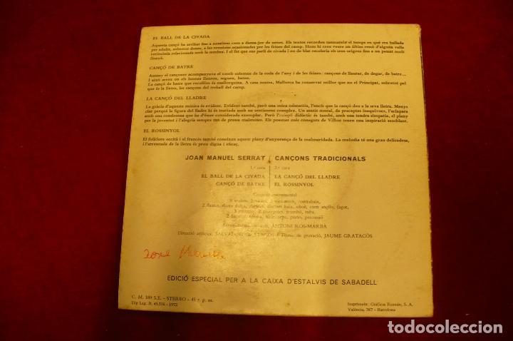 Discos de vinilo: joan manel serrat -- el ball de la civada / canço de batre / la canço del lladre / el rossinyol, - Foto 2 - 147684818