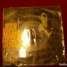 Discos de vinilo: JOAN MANEL SERRAT --LA MORT DE L'AVI / EL MOCADOR / UNA GUITARRA / ELLA EM DEIXA, EDIGSA 1965.. Lote 147686362