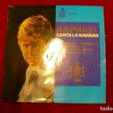 Discos de vinilo: RAPHAEL - LA CANCION DEL TAMBORILLERO / CAMPANAS DE PLATA / NOCHE DE PAZ / NAVIDADES BLANCAS, 1965.. Lote 147688774