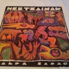 Discos de vinilo: HERTZAINAK - LP SALDA BADAGO - LP ROCK VASCO. Lote 147690025