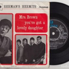 Discos de vinilo: HERMAN'S HERMITS MRS. BROWN YOU'VE GOT A LOVELY DAUGHTER ORIGINAL 1965 UK EP. Lote 147691170
