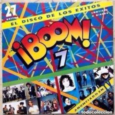 Discos de vinilo: BOOM 7 - DOBLE LP 1991 - LOQUILLO, TENNESSEE, LOS MANOLOS, LUZ ,HEROES DEL SILENCIO, ETC. Lote 147695346