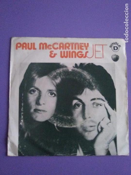 Discos de vinilo: MUY RARO SINGLE.PORTUGAL 1973 PAUL MCCARTNEY & WINGS.JET / LET ME ROLL IT.APPLE REC.SE 006 055554 MF - Foto 2 - 147705778