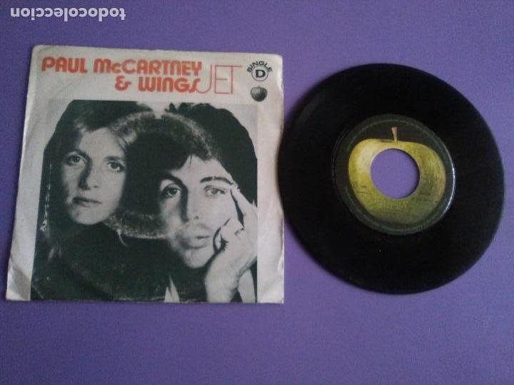 MUY RARO SINGLE.PORTUGAL 1973 PAUL MCCARTNEY & WINGS.JET / LET ME ROLL IT.APPLE REC.SE 006 055554 MF (Música - Discos - Singles Vinilo - Pop - Rock - Extranjero de los 70)