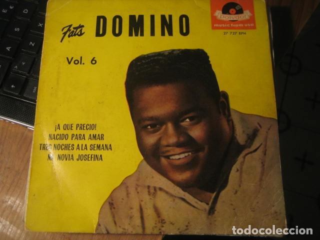 FATS DOMINO - WHAT A SHAME + 3 ******** RARO EP ESPAÑOL 1959 (Música - Discos de Vinilo - EPs - Rock & Roll)
